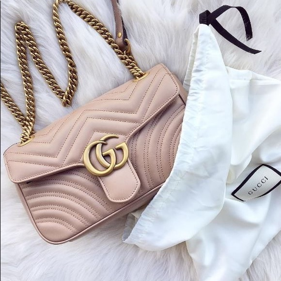 c6b30ea21f6d6e Gucci Bags | Marmont Pink Quilted Leather Chain Bag | Poshmark